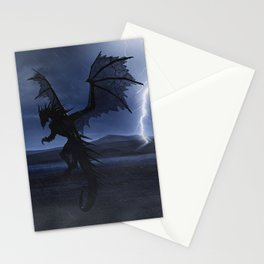 Dragon in the darkness Stationery Cards