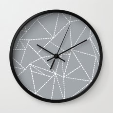 Abstract Dotted Lines Grey Wall Clock