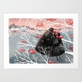 Winter meal Art Print