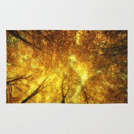 Golden Trees of Endless Dreams Rug