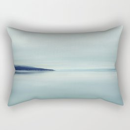 Blurred blue lines Rectangular Pillow