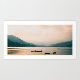 Nepal Series | Lake Pokhara, Nepal Art Print