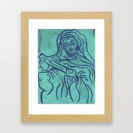 Original Linocut Art By Gina Lee Ronhovde Framed Art Print