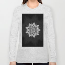 Black Ice Mandala Swirl Long Sleeve T-shirt
