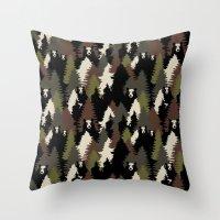 bears Throw Pillows featuring BEARS by Kimsa