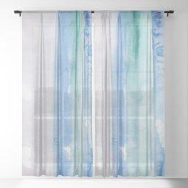 13    190907   Watercolor Abstract Painting Sheer Curtain