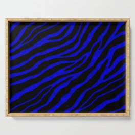 Ripped SpaceTime Stripes - Blue Serving Tray