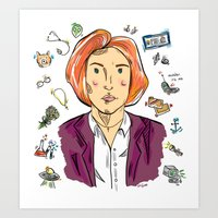 dana scully Art Prints featuring Dana Scully by sarah sawtelle