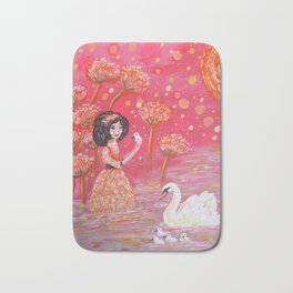 The Swan Girl Bath Mat