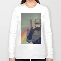 robocop Long Sleeve T-shirts featuring RoboCop Love by Virtual Window