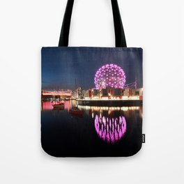 Purple Dandelion Tote Bag