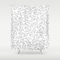 eat Shower Curtains featuring Eat! by anetambiel