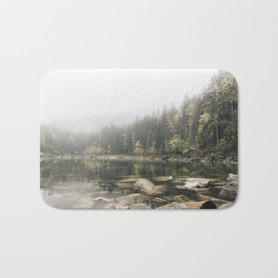 Pale lake - landscape photography Bath Mat