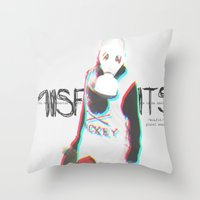 misfits Throw Pillows featuring Misfits by SAH.