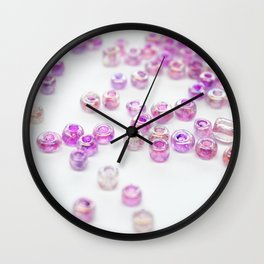 Pink and Purple beads Wall Clock