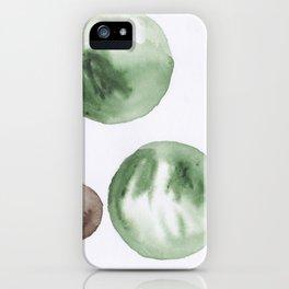 12  |181104 Australian Leaf Green & Brown Earth Orbs | Watercolour Circle Abstract Geometrical iPhone Case