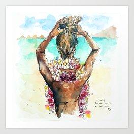 Bora Bora Lei Art Print