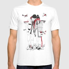 When sight is restricted, vision becomes clear. MEDIUM White Mens Fitted Tee