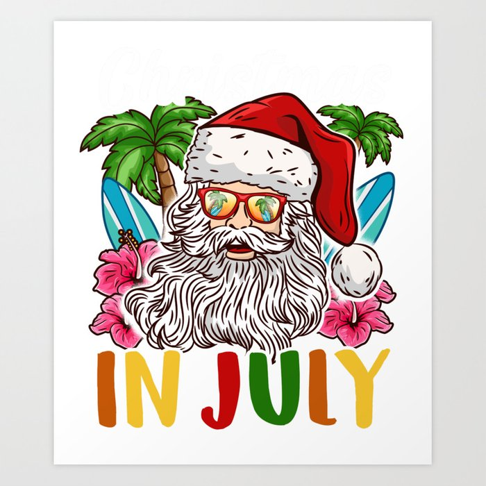 Put In Bay Christmas In July Pictures.Christmas In July I Put In Bay For A Party Dad Design Art Print By Binutz