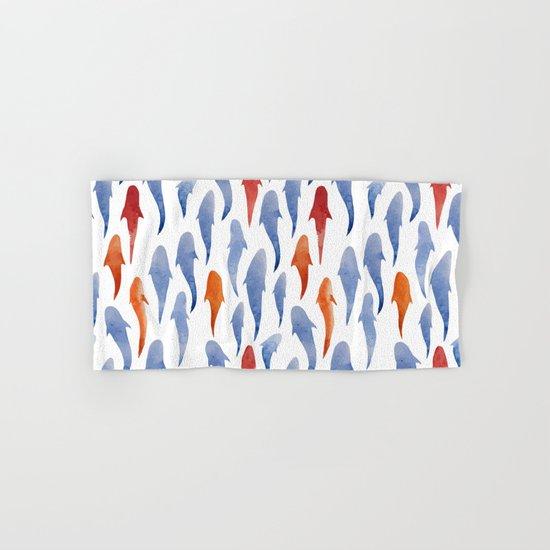 Watercolor Shark Pattern Hand & Bath Towel