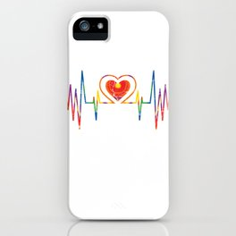 Heartbeat For Peace & LGBT iPhone Case