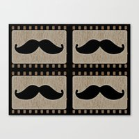 moustache Canvas Prints featuring Moustache by Mr and Mrs Quirynen