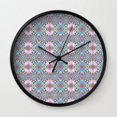 Funky Retro Pattern Wall Clock