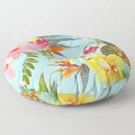 Tropical summer Floor Pillow