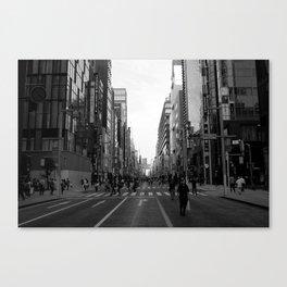 Ginza Street Tokyo Canvas Print