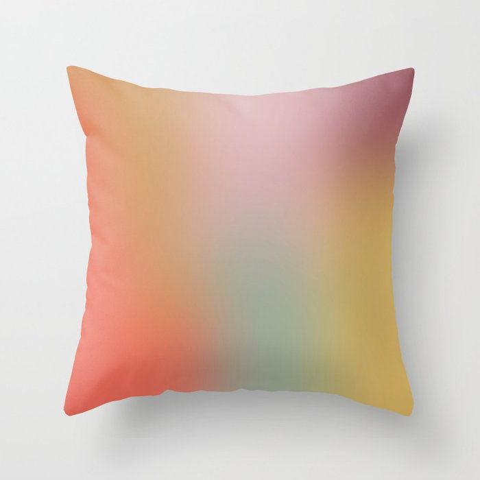 Blurry Colors v2 Throw Pillow