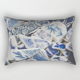 Japanese Sea Pottery - Collection I Rectangular Pillow