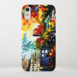 Starry Tardis Night iPhone Case