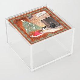 Curious Christmas Cats Acrylic Box