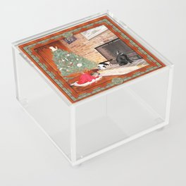 Curious Christmas Cats Acrylic Box
