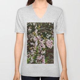 Apple Blossoms Unisex V-Neck
