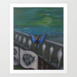 Blue Wings Art Print