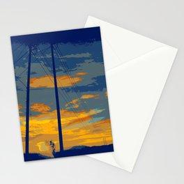 Sunrise Powerlines Stationery Cards