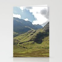 scotland Stationery Cards featuring Scotland Hills by Shelly Navarre