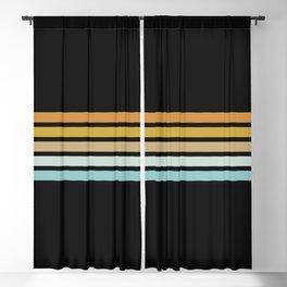 Retro Sunshine Stripes Blackout Curtain
