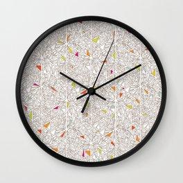 Little Triangles Pattern Wall Clock