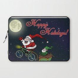 Santa on bike Laptop Sleeve
