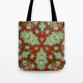 Scifi Rustic Geometric Tote Bag