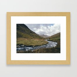 Gatesgarth Beck flowing through the Honister Pass. Cumbria, UK. Framed Art Print