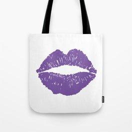 Purple Lips Tote Bag