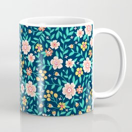 """Cute Floral pattern in the small flower. """"Ditsy print"""". Coffee Mug"""