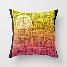 Borg 3000: ANALOG  Throw Pillow