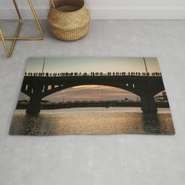 People at sunset Rug
