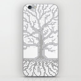 Pixel Art - Cross Stitch Chart - Grey Tree of Life - iPhone Skin