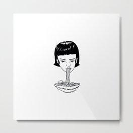 Spaghetti Girl Metal Print