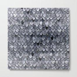 MAGIC MERMAID CLASSIC GREY by Monika Strigel Metal Print